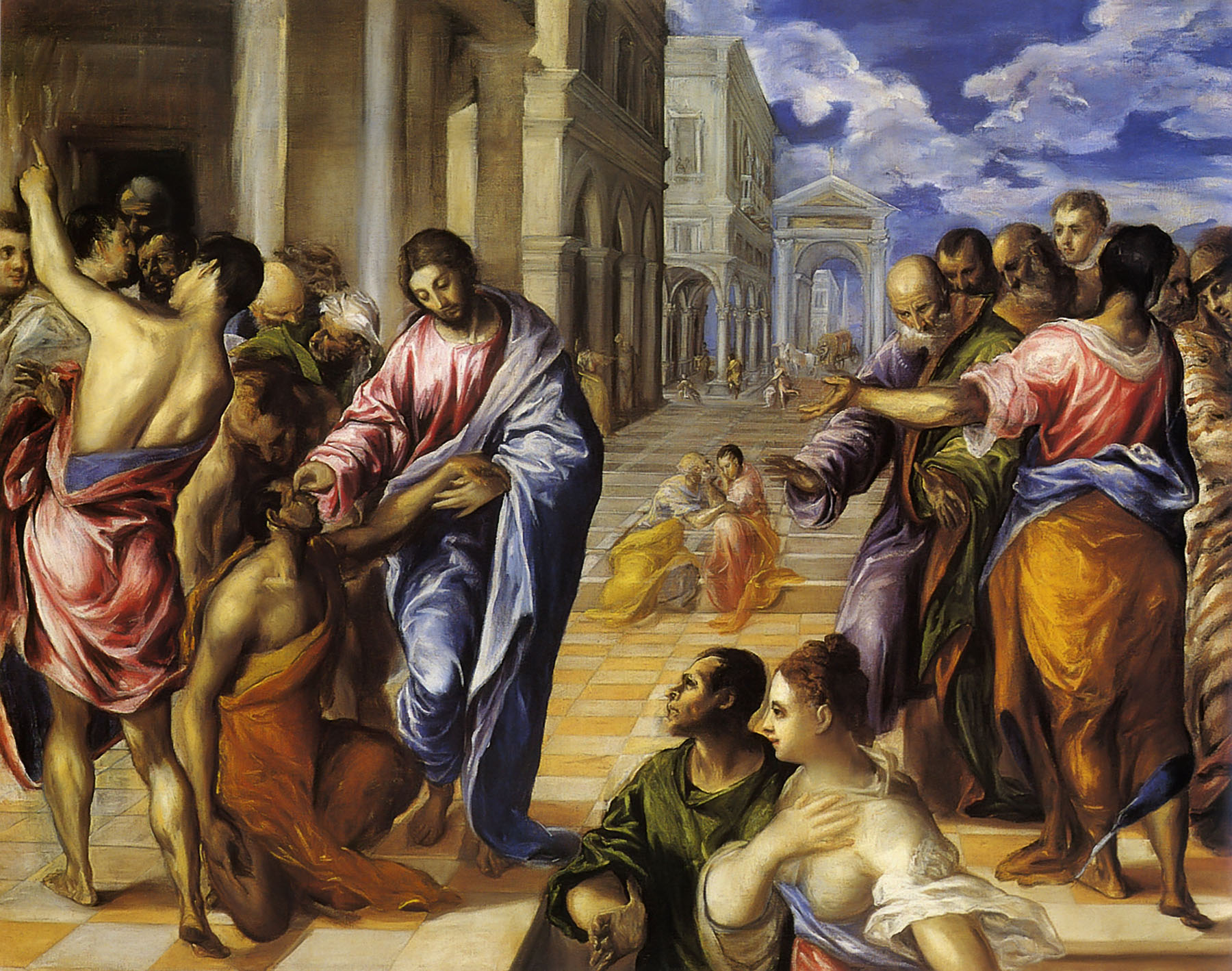 Jesus Healing the Blind, El Greco dans immagini sacre healing_the_blind_elgreco