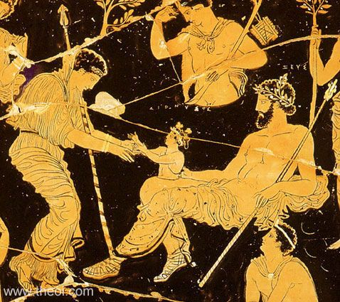 The second birth of Dionysus from the God himself